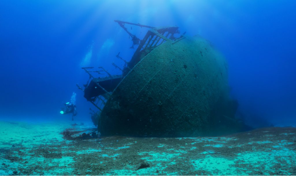 wrecks in the sea