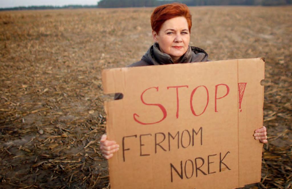 protest przeciwko fermom