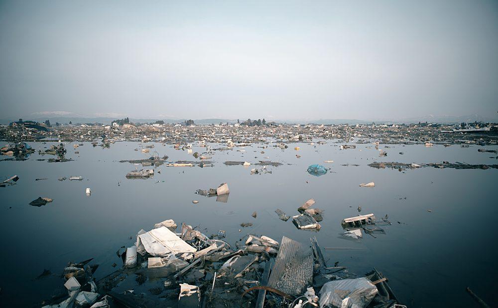 tsunami odpady
